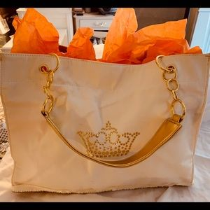 Queen of Everything Custom Bone & Gold Chain Tote